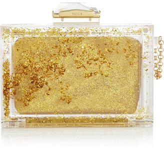 Kotur Glitter Globe Perspex box clutch
