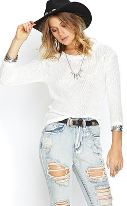 Forever 21 Open-Knit Sweater