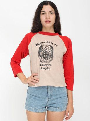 American Apparel Vintage Happiness Is An Old English Sheepdog Raglan Shirt