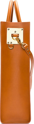 Sophie Hulme Cognac Structured Leather Tote Bag