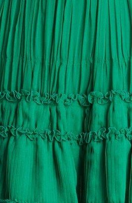 Oscar de la Renta Pleated Cocktail Dress
