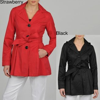 Esprit Women's Single Breasted Hooded Trench $42.99 thestylecure.com