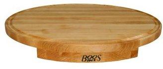 "John Boos & Co. Maple Edge-Grain Oval Countertop Cutting Board with Juice Groove, 24"" x 18"" x 11⁄4"""