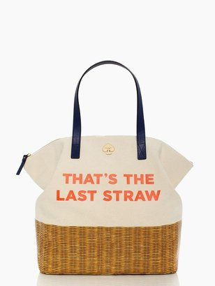 Kate Spade Call to action that's the last straw terry