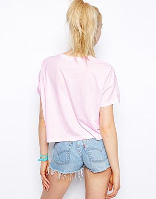 Asos Crop Top with Earth Without Art Print