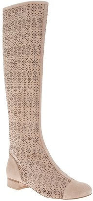 Moschino Cheap & Chic perforated knee high boot