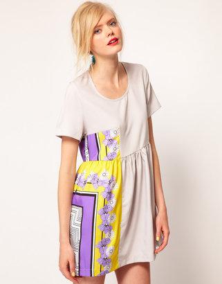 Asos Dress With Floral Kanga Print