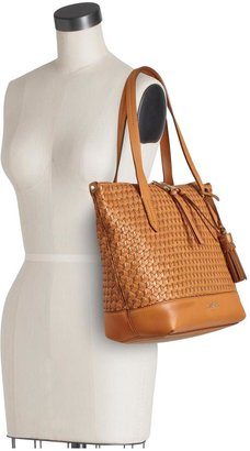 Cole Haan Parker Weave Small Zip Top Shopper