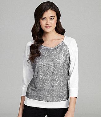 Miss Chievous Sequin-Front Sweatshirt