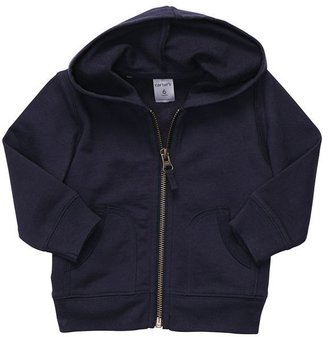 Carter's solid french terry hoodie - baby