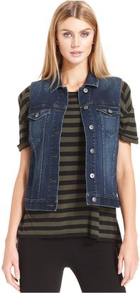 Vince Camuto TWO by Denim Vest, Dark-Wash
