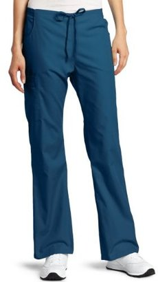 Dickies Scrubs Women's Tall Back Elastic Cargo Pant, Caribbean, X-Large