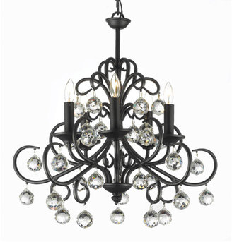 Bed Bath & Beyond Gallery Wrought Iron and Crystal 5-Light Chandelier