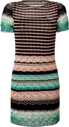 Missoni Black/Cinnamon-Multi Rayon-Cotton Dress