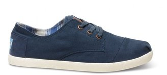 Toms Navy canvas men's paseos