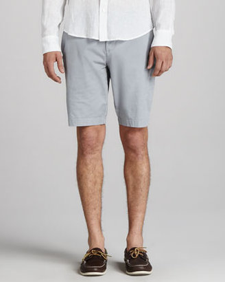Vince Twill Trouser Shorts, Silver