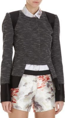 Prabal Gurung Button Front Tweed Jacket