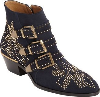 Chloé Suede Susan Studded Ankle Boot