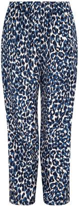 Gerard Darel Medea - Loose-fitting Leopard Print Pants