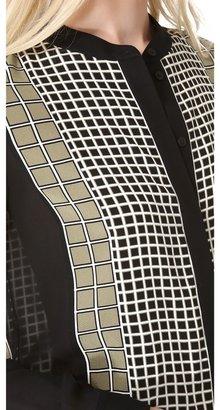 Ohne Titel Grid Print Blouse