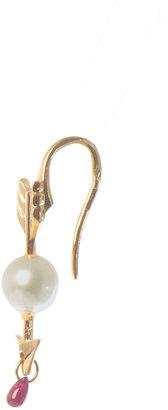 Delfina Delettrez Pearl & ruby Cupid single earring