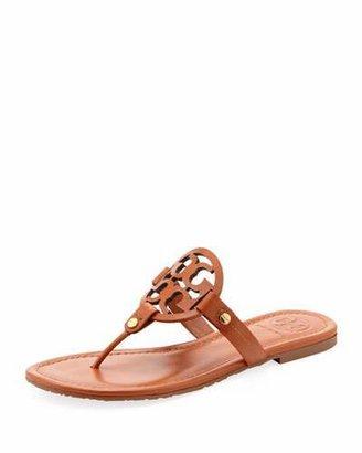 Tory Burch Miller Logo Flat Thong Sandal, Vachetta $195 thestylecure.com
