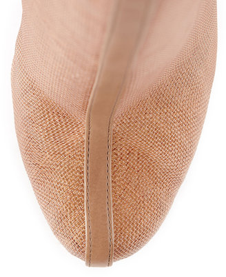 Rachel Zoe Maddy Raffia/Leather Short Bootie, Beige