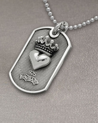 King Baby Studio Heart Dog Tag Necklace