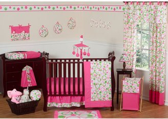 JoJo Designs Sweet Mod Circles Crib Bedding Collection in Pink/Green
