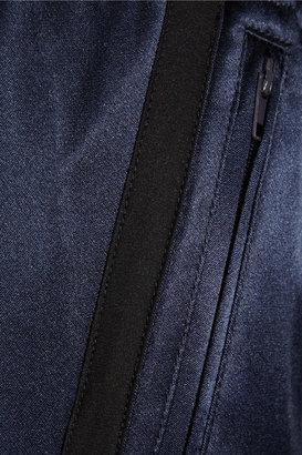 ADAM by Adam Lippes Silk-satin track pants