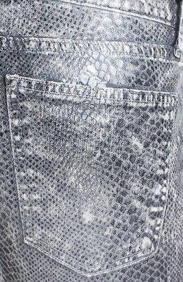 Current/Elliott 'The Ankle' Snakeskin Print Skinny Jeans