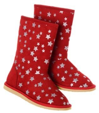Crazy 8 Sparkle Star Cozy Boots