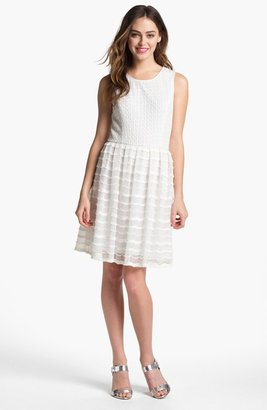 Maggy London Textured Fit & Flare Dress