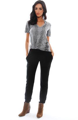 Monrow Ponte Skinny Sweatpant in Black