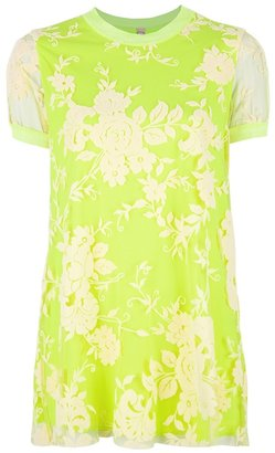 Antonio Marras embroidered sheer top