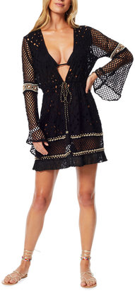 Ramy Brook Amal Mesh Short Coverup Dress