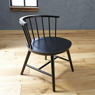 Crate & Barrel Riviera Black Low Windsor Side Chair.