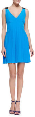 Marc by Marc Jacobs Frances Pleated Sleeveless Silk Dress