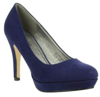Barratts navy Platform Court Shoes