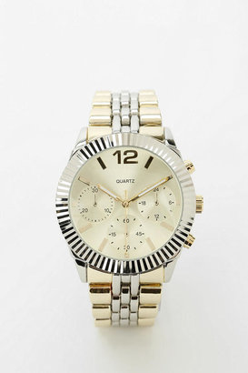 Urban Outfitters Mixed Metal Menswear Watch