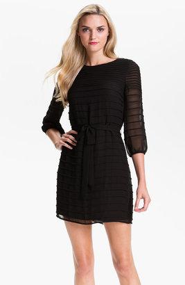 Calvin Klein Stitch Detail Chiffon Blouson Dress