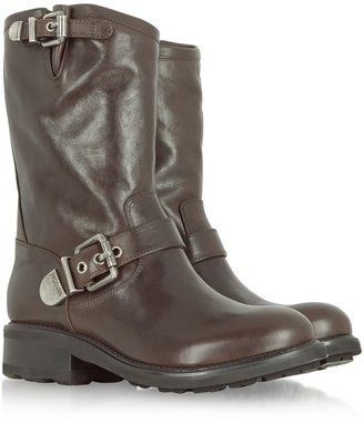 Luciano Padovan Brown Leather Biker Boot