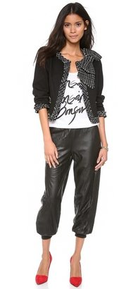 Alice + Olivia Leather Pants with Elastic Cuffs