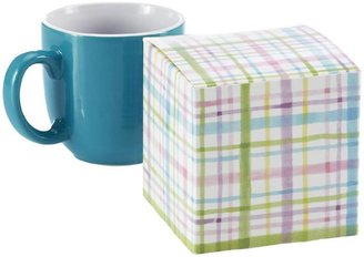 Container Store Cube Gift Box Watercolor Plaid