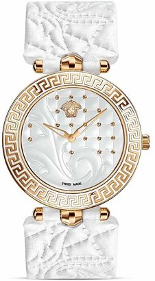 Versace Vanitas Rose Gold PVD Watch with White Enamel Dial, 40mm $1,795 thestylecure.com