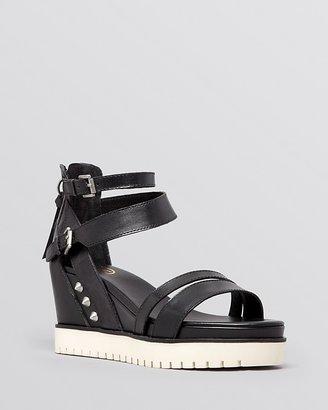 Ash Open Toe Platform Wedge Sandals - Penelope