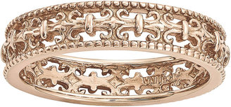 FINE JEWELRY Personally Stackable 18K Rose Gold Over Sterling Silver Fleur-de-Lis Ring $83.32 thestylecure.com