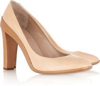 Chloé Two-tone leather pumps