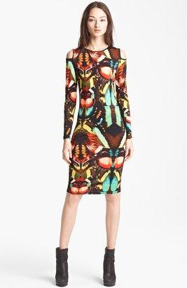 Jean Paul Gaultier Fuzzi Butterfly Print Cold Shoulder Dress