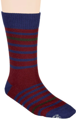 Paul Smith Blue, Brown, and Green Striped Socks